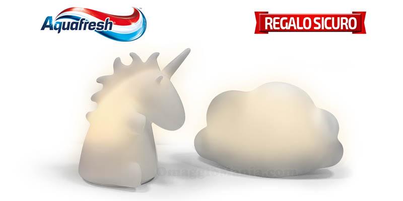 Aquafresh lampada led unicorno o nuvoletta