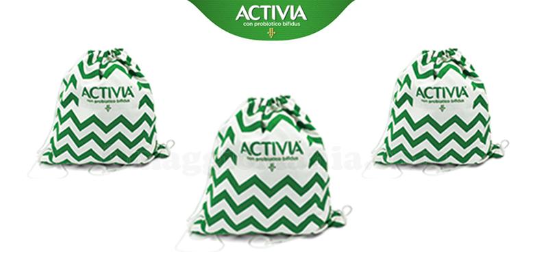 con Activia ricevi uno zainetto brandizzato