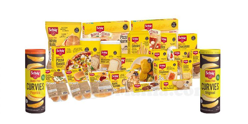 prodotti Schär e patatine Curvies