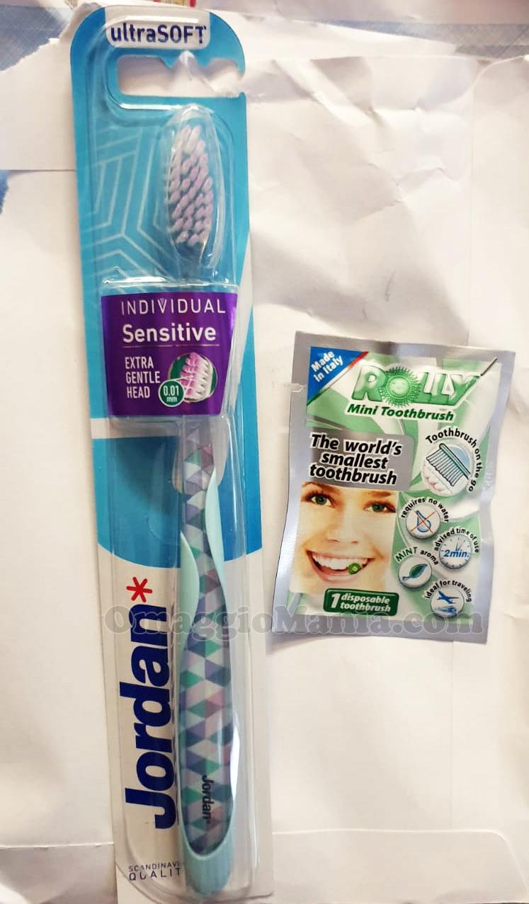 spazzolino da denti Jordan e spazzolino portatile