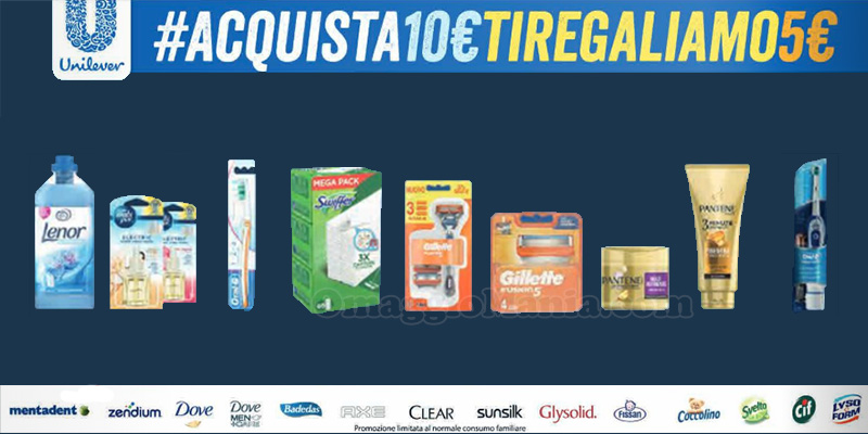 Unilever Acquista 10€ ti regaliamo 5€
