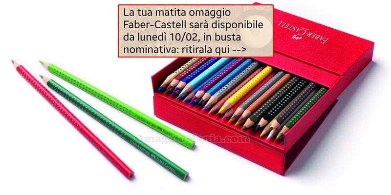 matita omaggio Faber-Castell da ritirare