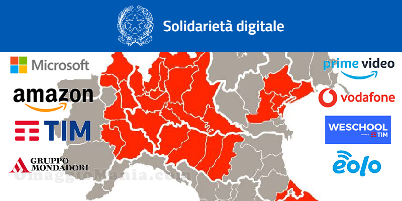 Solidarietà digitale Coronavirus servizi gratuiti