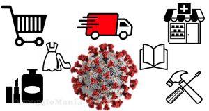 elenco store online emergenza Coronavirus