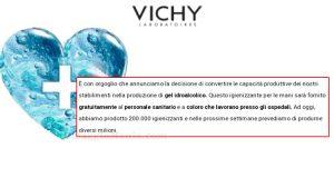 Vichy gel igienizzante mani