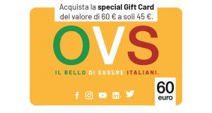 carta regalo OVS #InsiemeSiVince a 45 euro