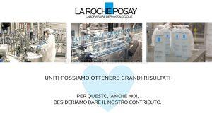 produzione La Roche-Posay gel igienizzante mani