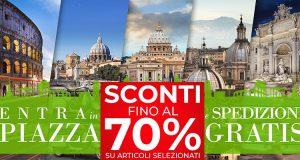 sconti fino 70% e spedizioni gratis Piazza Italia