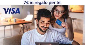 7 euro Amazon omaggio con VISA