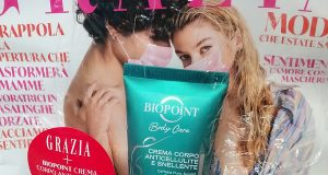Grazia con crema corpo anticellulite Biopoint di Sole
