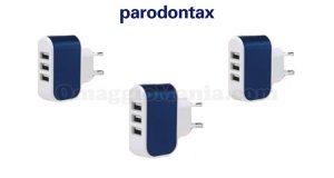 caricabatterie USB omaggio con Parodontax