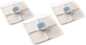 porta stuzzichini con ciotola in ceramica