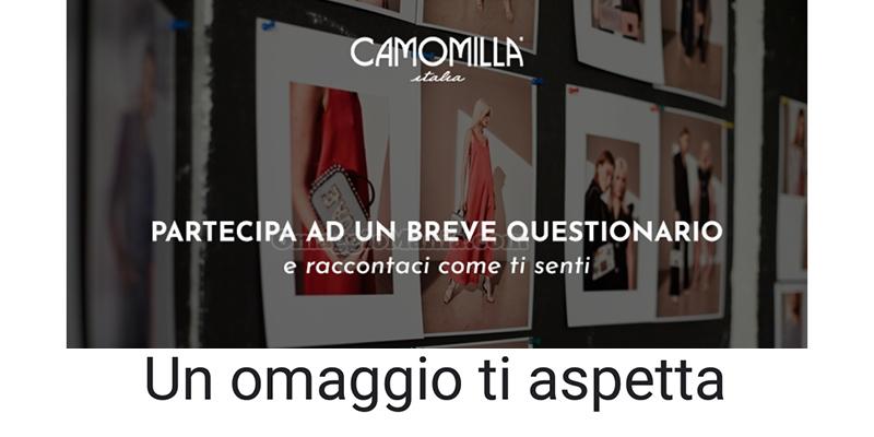 sondaggio Camomilla un omaggio ti aspetta