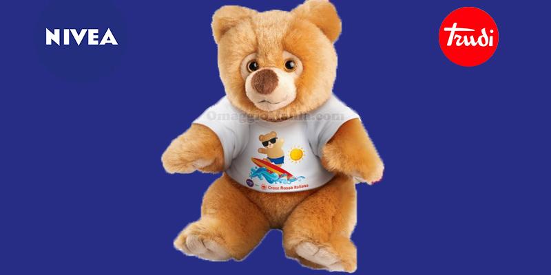 vinci l'orsetto Nelson di Trudi con Nivea