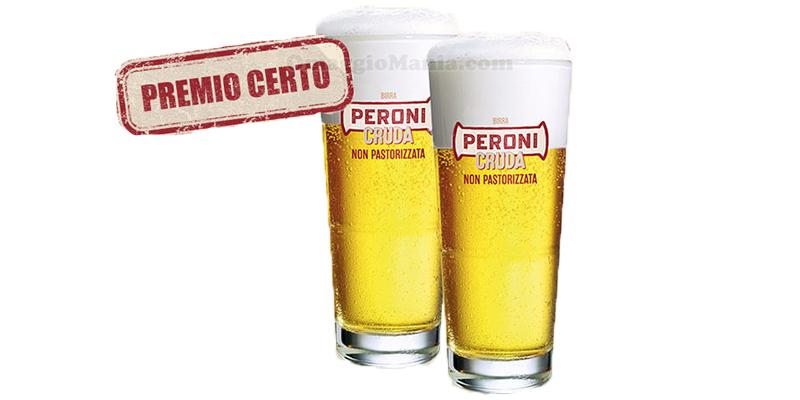 Peroni Cruda bicchieri vetro omaggio ViviCrudo