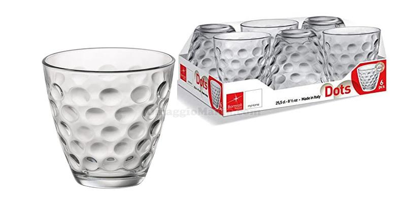 bicchieri Bormioli Dots a 50cent da Tigotà