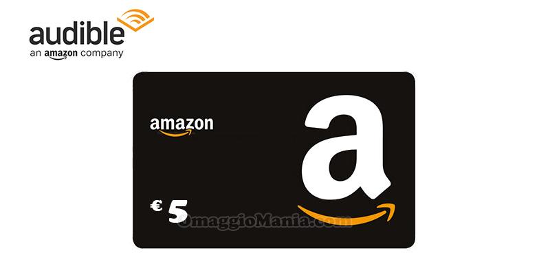buono Amazon da 5 euro con Audible