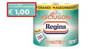 buono sconto Asciugoni Regina 1 euro
