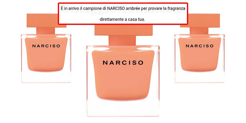 campione omaggio Narciso Ambrée