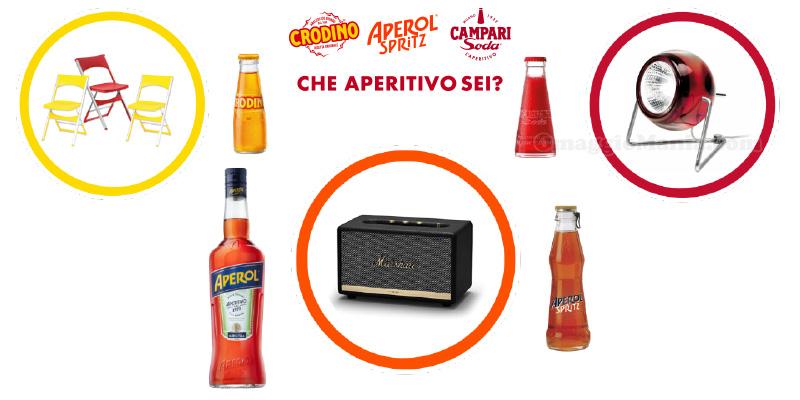 concorso Che aperitivo sei Crodino, Aperol Spritz, campari Soda