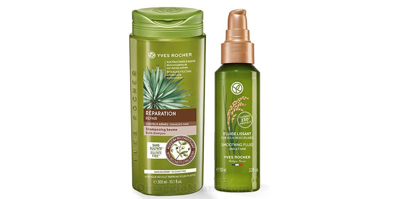 shampoo crema e fluido lisciante Yves Rocher