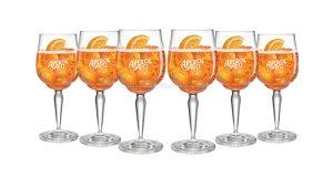 bicchieri Aperol Spritz in palio con concorso Aperitivo con Aperol