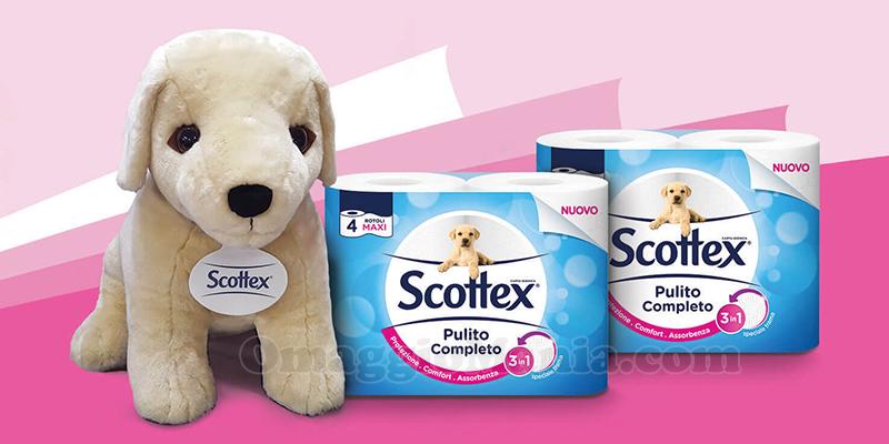 concorso Vinci il maxi peluche del cucciolo Scottex