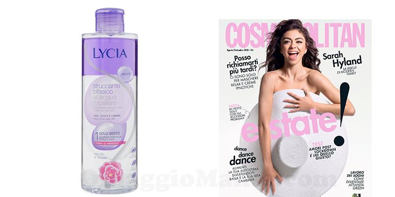 acqua micellare Lycia omaggio con Cosmopolitan agosto settembre 2020