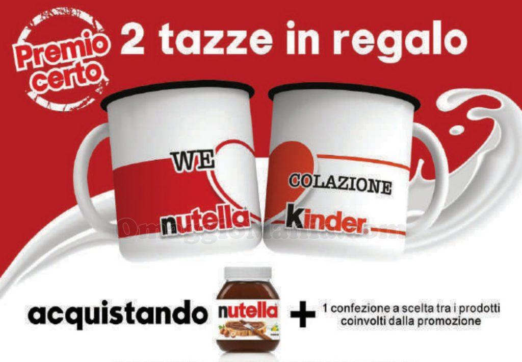 anticipazione tazze in regalo Nutella Kinder We Love Colazione