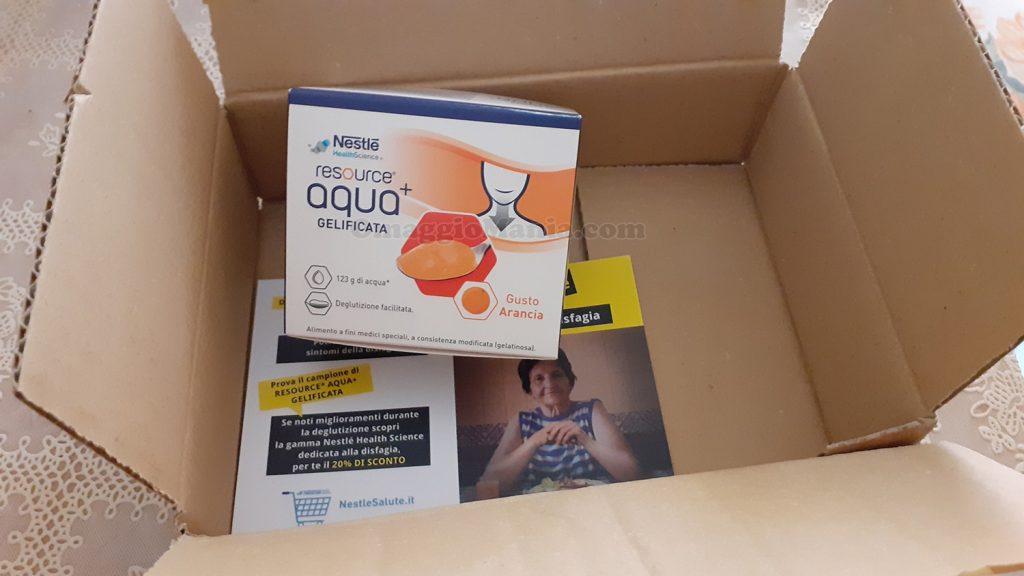 campione omaggio Resource Aqua+ Nestlé di Franca