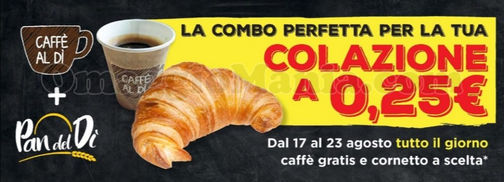 colazione a 0,25€ da ALDI