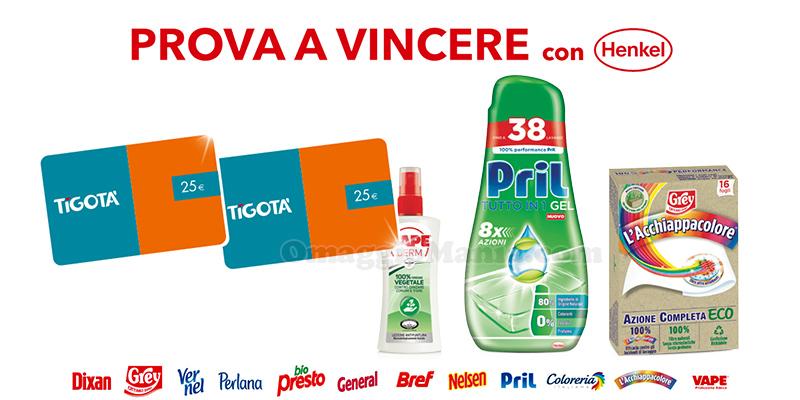 concorso Prova a vincere con Henkel agosto 2020 Tigotà