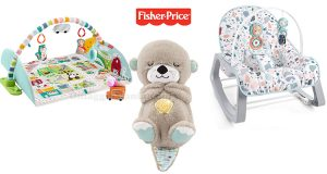 Diventa tester dei giocattoli Fisher-Price Palestrina Gigante, Dondolino Pacific Joy, Lontra soffice relax