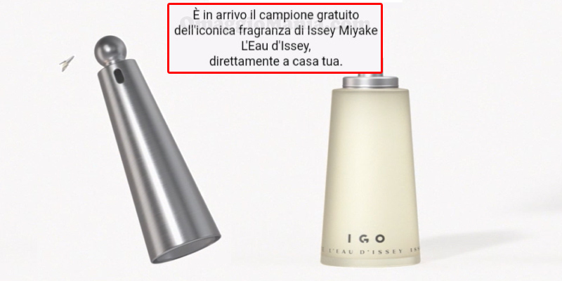 campione omaggio Issey Miyake L'Eay d'Issey