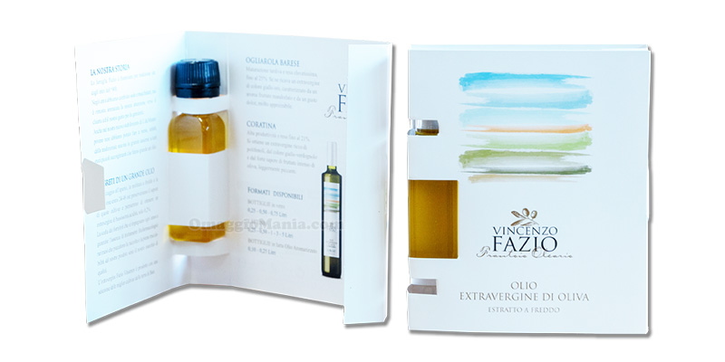campione omaggio olio extravergine di oliva Vincenzo Fazio