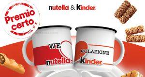 premio certo tazze Nutella e Kinder WeLoveColazione 2020