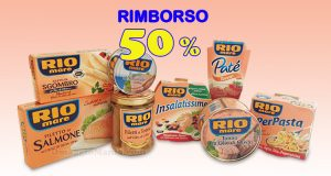 rimborso 50% Rio Mare
