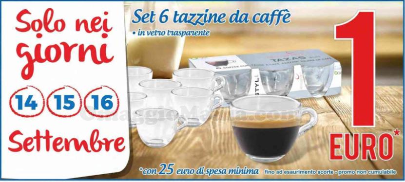 set tazzine caffè MD a 1 euro