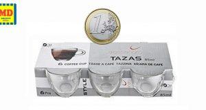 set tazzine caffè a 1 euro da MD