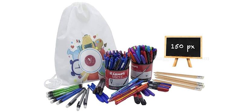 zainetto con penne matite e pennarelli My Custom Style
