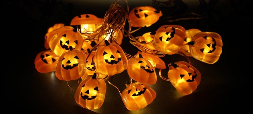 zucche luminose Halloween LED