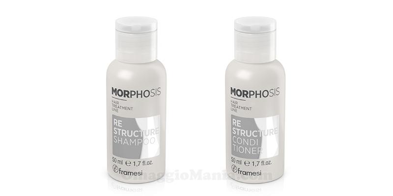 campioni omaggio shampoo e conditioner Framesi Morphosis Re-Structure