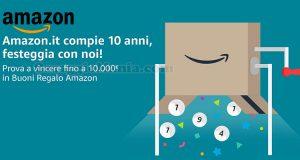 concorso 10 anni di Amazon
