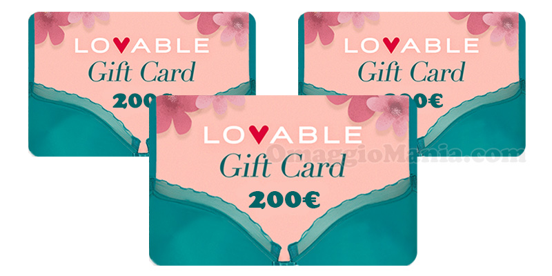 gift card Lovable 200 euro