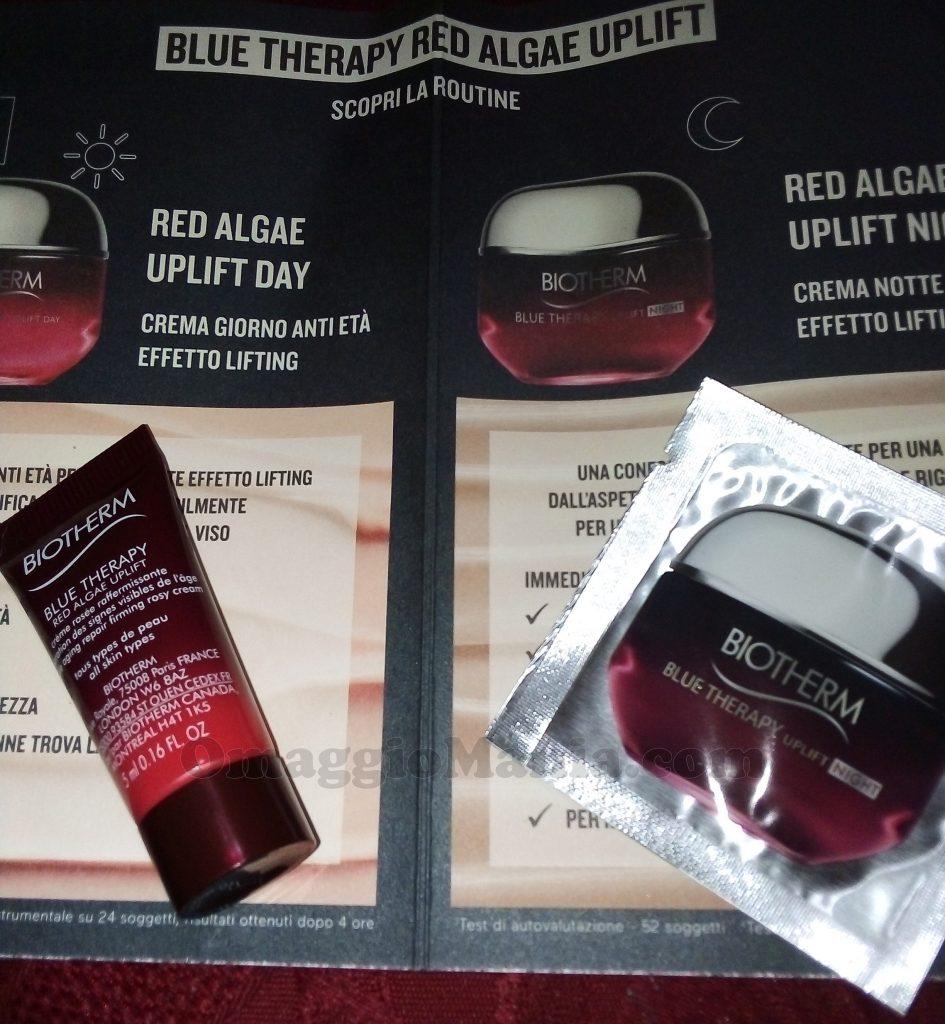crema giorno Red Algae Uplift da 5ml e una crema notte Red Algae Uplift da 1ml