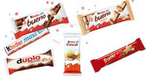prodotti Kinder e Ferrero