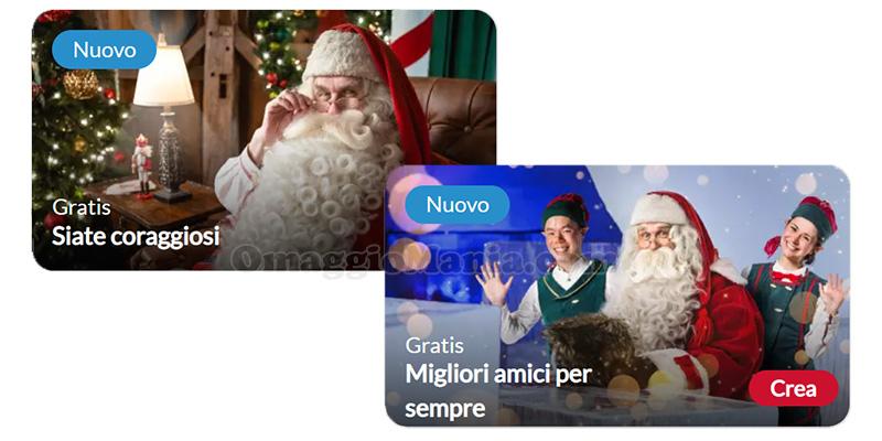 videomessaggi personalizzati Babbo Natale con Portable North Pole