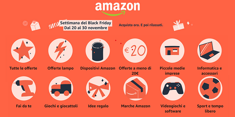 Amazon Settimana del Black Friday 2020