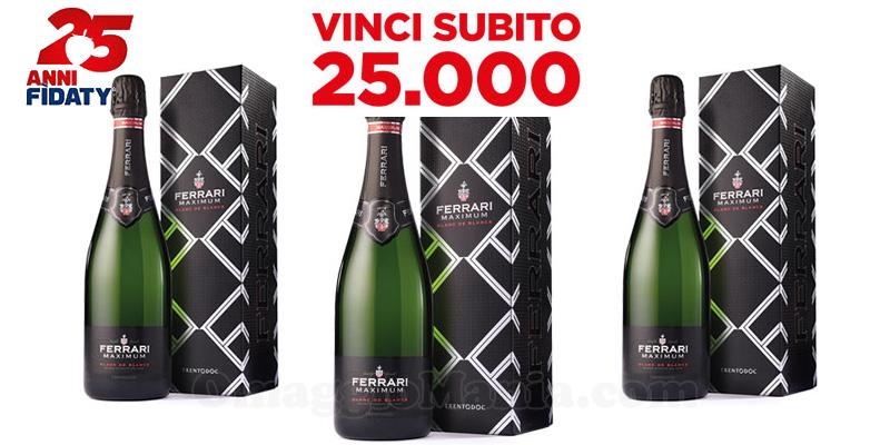 Esselunga 25 anni Fìdaty bottiglie di Ferrari Maximum