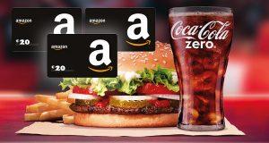 concorso Vinci con Coca-Cola e Burger King novembre 2020